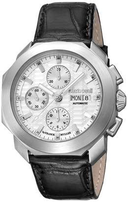Roberto Cavalli BY FRANCK MULLER Sport Chronograph Leather Strap Watch