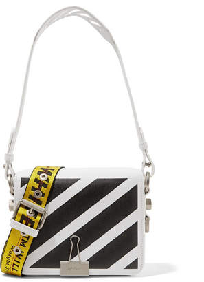 Off-White - Printed Leather Shoulder Bag $1,005 thestylecure.com