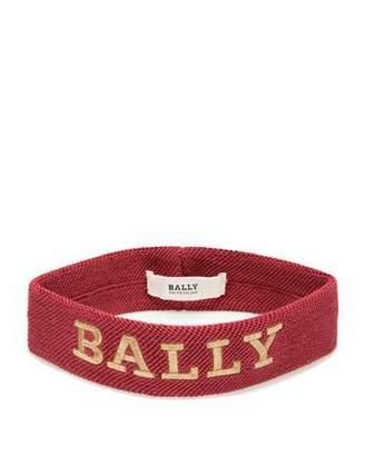 Bally Men's Logo-Embroidered Canvas Headband, Red