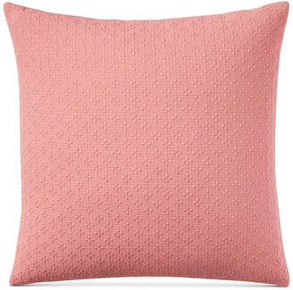 """Charter Club Damask Designs Diamond Dot Cotton 300-Thread Count 18"""" x 18"""" Decorative Pillow, Created for Macy's Bedding"""