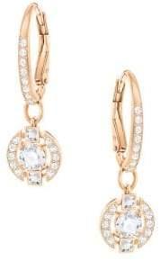 Swarovski Sparkling Dance Crystal 18K Rose-Goldplated Hoop Earrings