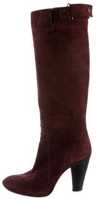 CNC Costume National Suede Knee-High Boots