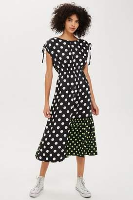 Topshop Mixed Spot Print Skater Dress by Boutique