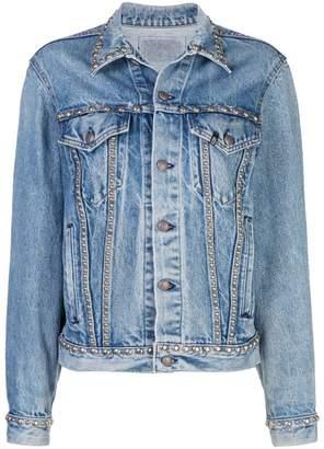 R 13 studded denim jacket
