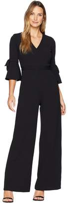 Donna Morgan Jumpsuit with Bow Sleeve Women's Jumpsuit & Rompers One Piece