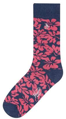 Original Penguin Hawaiian Foliage Sock