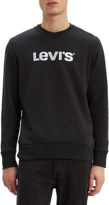Levi's Logo Cotton-Blend Fleece Sweatshirt