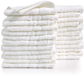"""Martha Stewart Collection Essentials Cotton 24-Pc. 13"""" x 13"""" Washcloth Set"""