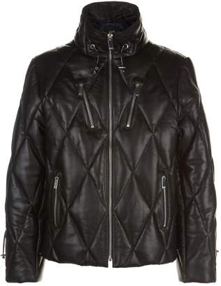 Blood Brother Chesterfield Leather Quilted Jacket