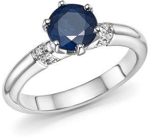 Roberto Coin Platinum Solitaire Sapphire and Diamond Ring