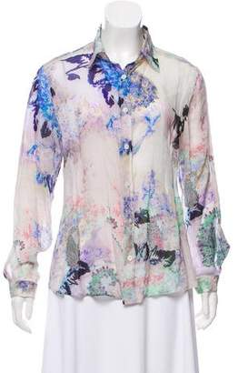 Etro Floral Button-Up Top