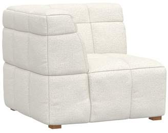 Pottery Barn Teen Baldwin Lounge Corner Chair, Tweed Ivory, IDS