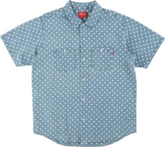 Supreme Polka Dot Denim Shirt - 'SS 18' - Light Blue