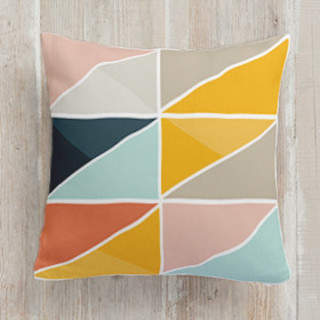 Triangle Picnic Square Pillow