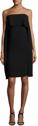 Trina Turk Genius Strapless Popover Shift Dress, Black
