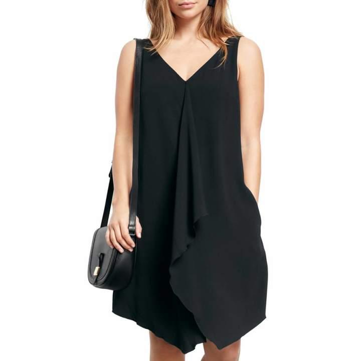 Black Delilah Frill Dress