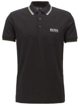 BOSS Hugo Regular fit pique polo shirt quick-dry technology L Black