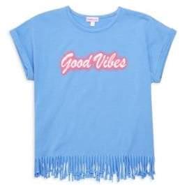 Design History Girl's Good Vibes Fringe Tee