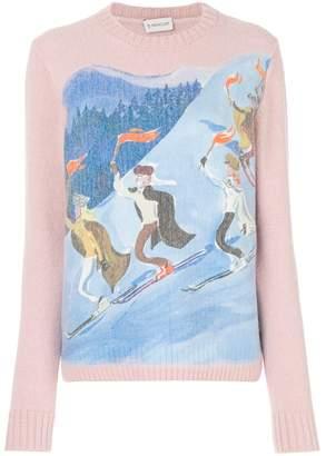 Moncler ski print jumper