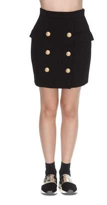 Balmain Short High Waist 6 Buttons Skirt