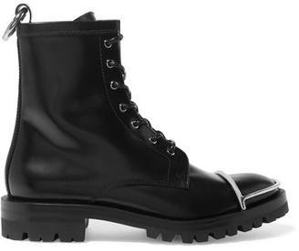 Alexander Wang - Lyndon Leather Boots - Black $750 thestylecure.com