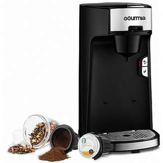 Gourmia Automated Single Serve Cup Coffee Maker Machine and Tea Brewer, Black
