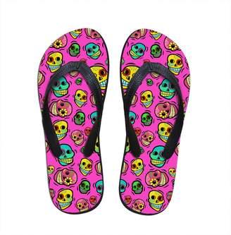 b9f9dd2b217787 FOR U DESIGNS Personalized Skull Pattern Slippers for Lady Outdoor Travel Beach  Women Shower Flip Flops