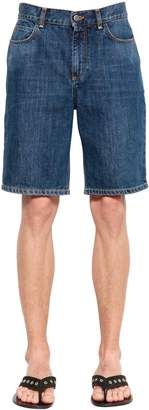 J.W.Anderson Cotton Denim Shorts W/ Embroidered Logo