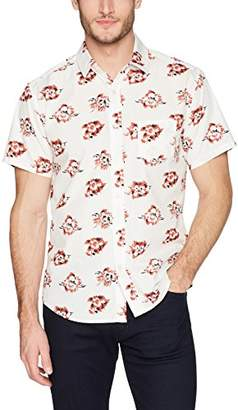 Life After Denim Men's Short Sleeve Slim Fit Rosarito Floral Print Shirt