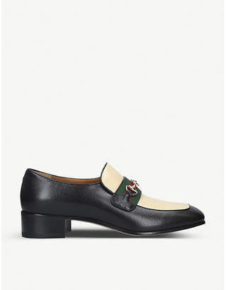 Gucci Aylen grained-leather loafers