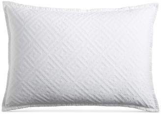 Hotel Collection Greek Key Cotton Quilted King Sham