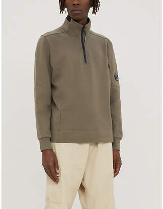 C.P. Company Half-zip cotton-jersey sweatshirt
