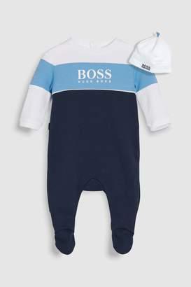 Next Boys BOSS Baby Navy Sleepsuit And Hat Set