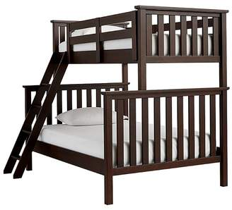 Pottery Barn Kids Elliott Twin over Full Bunk Bed, Chocolate