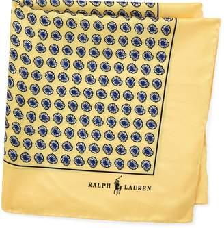 Ralph Lauren Silk Foulard Pocket Square
