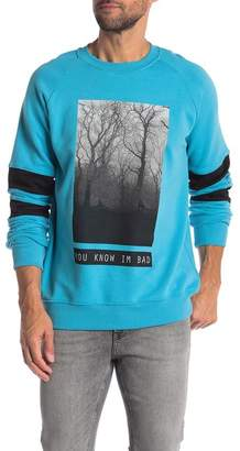 You Know I'm Bad Dark Tree Pullover Sweater