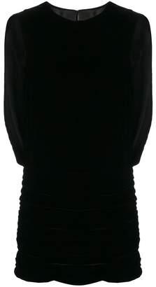Saint Laurent Draped Velvet Mini Dress