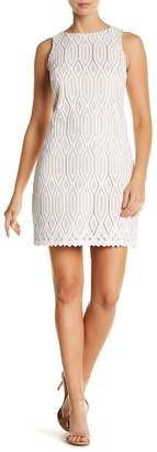 Vince Camuto Lace Overlay Shift Dress