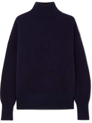 Theory Cashmere Turtleneck Sweater - Navy