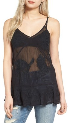 Women's Hinge Embroidered Sheer Mesh Cami $69 thestylecure.com
