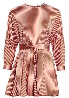 Derek Lam 10 Crosby Women's Belted Stripe Poplin Dress