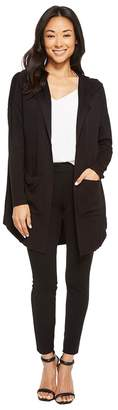 American Rose Audrey Pocketed Fleece Cardigan with Hood Women's Sweater