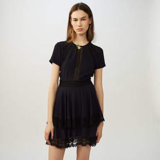 Maje Flounced lace dress