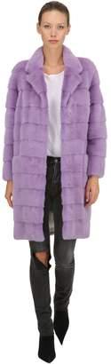 Simonetta Ravizza Annie Hearts Printed Mink Fur Coat