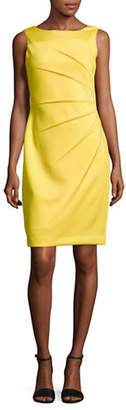 Calvin Klein Sleeveless Starburst Crepe Sheath Dress