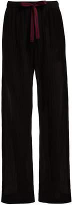 ON THE ISLAND Antiparos wool-blend drawstring trousers