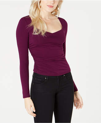 GUESS Freedia Ruched Long-Sleeve Top