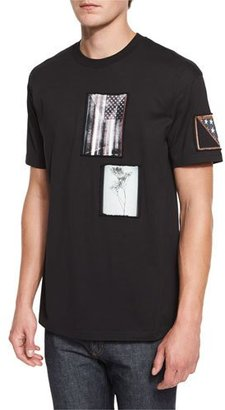 Givenchy Colombian-Fit Photograph Patch T-Shirt, Black $595 thestylecure.com