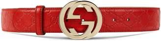 Guccissima belt with interlocking G $390 thestylecure.com