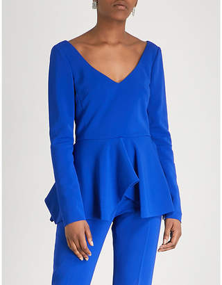 Antonio Berardi Notes V-neck crepe top